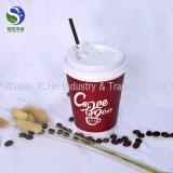 Le logo fait sur commande remplaçable a estampé les cuvettes de papier isolées par café chaud de mur d'ondulation