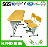 Escritorios dobles del estudiante de la escuela del escritorio de los niños de la sala de clase con las sillas (SF-04D)