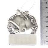 Médaille argentée faite sur commande de Bell en métal de cadeau en gros de Noël