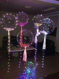 Balões do partido com luzes feericamente da corda, 18 polegadas para o partido, casamento, ao ar livre, interno, festival, decorações dos aniversários