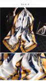 2018 Nouvelle conception 90*90 cm foulard satin de soie