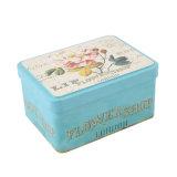 Hauptdekor-Retro Zinnblech-Schmucksache-Tee-Süßigkeit-Kasten-Geschenk-Kasten