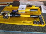 Hexagon Hydraulische HandBatterij stelde Elektrisch Plooiend Hulpmiddel hhy-510 van de Kabel van de Macht van het Handvat van het Aluminium Eind in werking