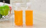 botella plástica de encargo del jugo de 200ml 300ml 500ml con el tapón de tuerca plástico