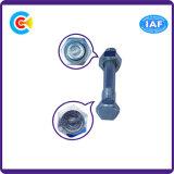 DIN/ANSI/BS/JIS Carbon-Steel/Stainless-Steel dos conjuntos de cabeza hexagonal tornillos electrónicas para edificio/Railway