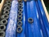 Tipo plano azul correa modular de Hairise con el material de POM