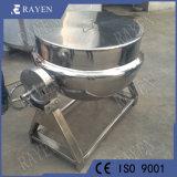 La Chine Fabricant chemisé de vapeur d'une bouilloire avec agitateur 100 gallon bouilloire