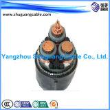 VV22t 4+1 de coeurs isolés de PVC et bandes en acier gainé blindé conducteur concentrique de câble d'alimentation