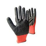 Nylon de 13 mesures ou gants enduits de latex coloré de doublure de polyester