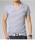 Das spätesten der Entwurfs-Form-v-Stutzen-T-Shirt Männer beiläufige