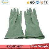 Зеленый бутилкаучука рабочие перчатки для Anti-Acid, щёлочь (СВК-320R)