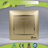 Gruppo variopinto del piatto certificato CE/TUV/CB 2 di standard europeo CON l'interruttore BIANCO della parete del LED