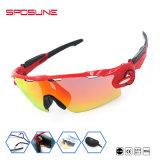 Очки Jianghua Красный PC объектив Cat. 3 поляризованные очки велосипедные очки