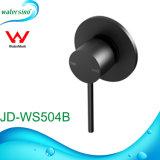 Escondido de negro mate Diseño redondo Bathroomware Mezclador de ducha