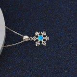 Ювелирные изделия способа оптовой продажи ожерелья конструкции способа цветка снежка голубые опаловые привесные (561675389207)