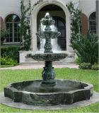 Diseño simple tres escalones de mármol negro Fuente de agua para el exterior &el vestíbulo del hotel