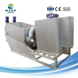 Parafuso de tratamento de águas residuais industriais autolimpante Pressione desidratação de lamas