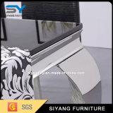 Mobilia di vetro del tavolino da salotto dell'acciaio inossidabile