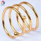 金の銀製のクリスマスの真珠のナプキンリング表の結婚式のナプキンリング