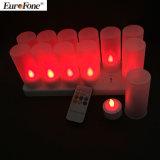 Luces de la vela del LED [fijar de 12 velas recargables del LED]
