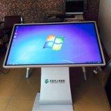"""高い明るさ55 """" LCDの床の永続的なタッチ画面の対話型のキオスク"""