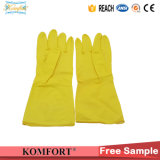 Перчатки из латекса домашних хозяйств желтого цвета (СВК-385E)
