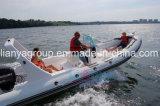 Barco inflable caliente de la costilla del deporte de la fibra de vidrio del barco de la venta los 6.6m de Liya
