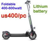 Scooter électrique pliant/Scooter électrique/ 2 roues scooter électrique 600W/500W avec certificat CE