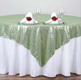 Свадебные украшения красивая скатерть Sequin Sequin таблица ткани таблица наложения