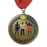 주문을 받아서 만들어진 금속 도전 철 메달
