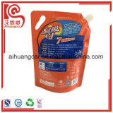 El embalaje modificado para requisitos particulares del líquido de lavado se levanta la bolsa de plástico