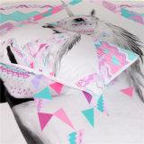 3D Roze Eenhoorn Afgedrukte Reeks van het Beddegoed