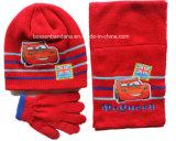 Нестандартная конструкция продукции OEM фабрики Китая напечатала голубой акриловый комплект шарфа Beanie зимы Knit