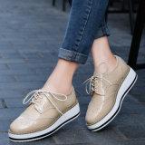La piattaforma di cuoio delle donne di modo calza i pattini di vestito (FTS1019-31)