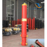 28t de hydraulische Aanhangwagen van de Vrachtwagen van de Stortplaats van de Cilinder