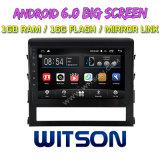 """Witson gran pantalla de 10,2"""" de Android 6.0 alquiler de DVD para Toyota Landcruiser 2016"""