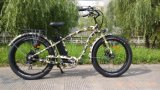 Cruzador elétrico da praia do pneu gordo traseiro da E-Bicicleta do Hummer do motor