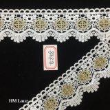 lacet de garniture de 5cm Guangdong Scalolped, lacet cranté Hme858 de garniture de lacet de Venise rétro