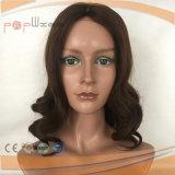Première perruque médicale en soie de cheveux humains (PPG-l-0652)