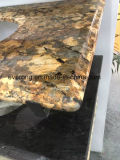 花こう岩、大理石、水晶石造りの虚栄心の上および台所カウンタートップ