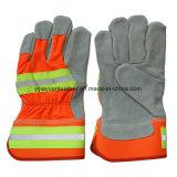Kuh-aufgeteiltes Leder-Bergmann-Arbeits-Handschuhe