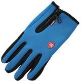 1 Paar 3 Farben-Mann-Frauen-haltbare weiche warme im Freien wandernde kampierende Skifahren-wasserdichte Nylonhandschuh-Ski-Unisexhandschuhe mit Reißverschluss