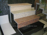 Granit-Treppen-vorgeschnittene Steinjobsteps und Aufbrüche kundenspezifische Marmortreppe