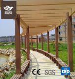 Le bois Pergola composite pour la Cour en plastique