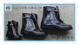 さまざまで黒いOvershoes、ゴム製雨靴、黒いゴム製Overshoes