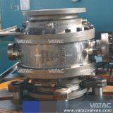 Caixa de engrenagens flangeados Wcb RF Válvula de Esfera do Munhão (Q341F)