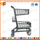 鋼鉄スーパーマーケット手のカートの買物車の記憶装置のトロリー(Zht125)
