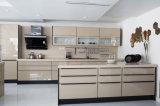 Het moderne Nieuwe Gelamineerde Kabinet van de Opslag van het Meubilair van de Keuken