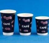 Venta caliente taza de café de papel con tapas y manguitos y pajas para Amazon y mayoristas