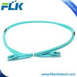 Cables ópticos a dos caras de la corrección de fibra de LC-LC Om3 50/125 para la red